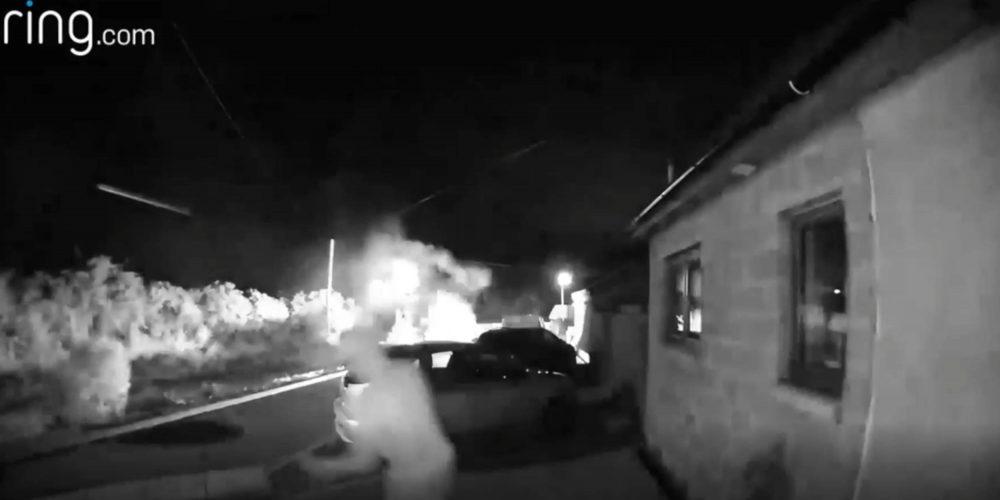 Ringcam van on fire Forfar - Crime News UK
