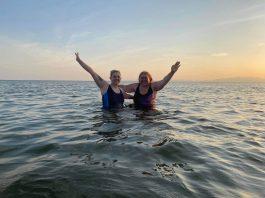 Claire and Michaela in sea - Scottish News