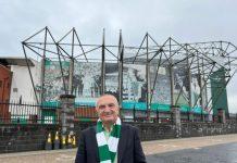 Ilir Meta outside Celtic Park