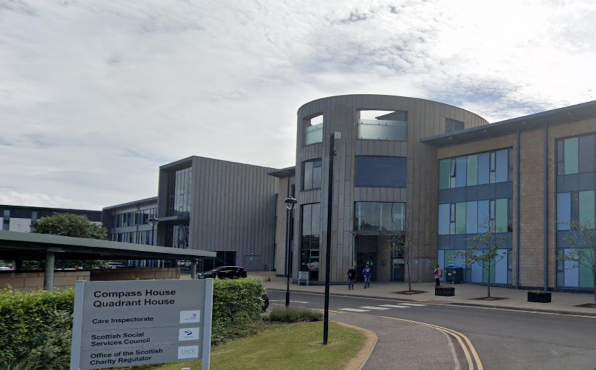 A photo of the SSSC offices in Dundee.