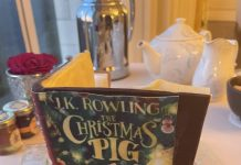 The cover of the chocolate book Rowling received.