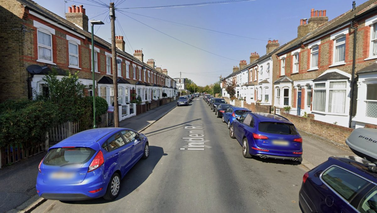 """A street view of Linden Road - the quiet street in Hampton where the """"missing Komodo dragon"""" poster was found"""