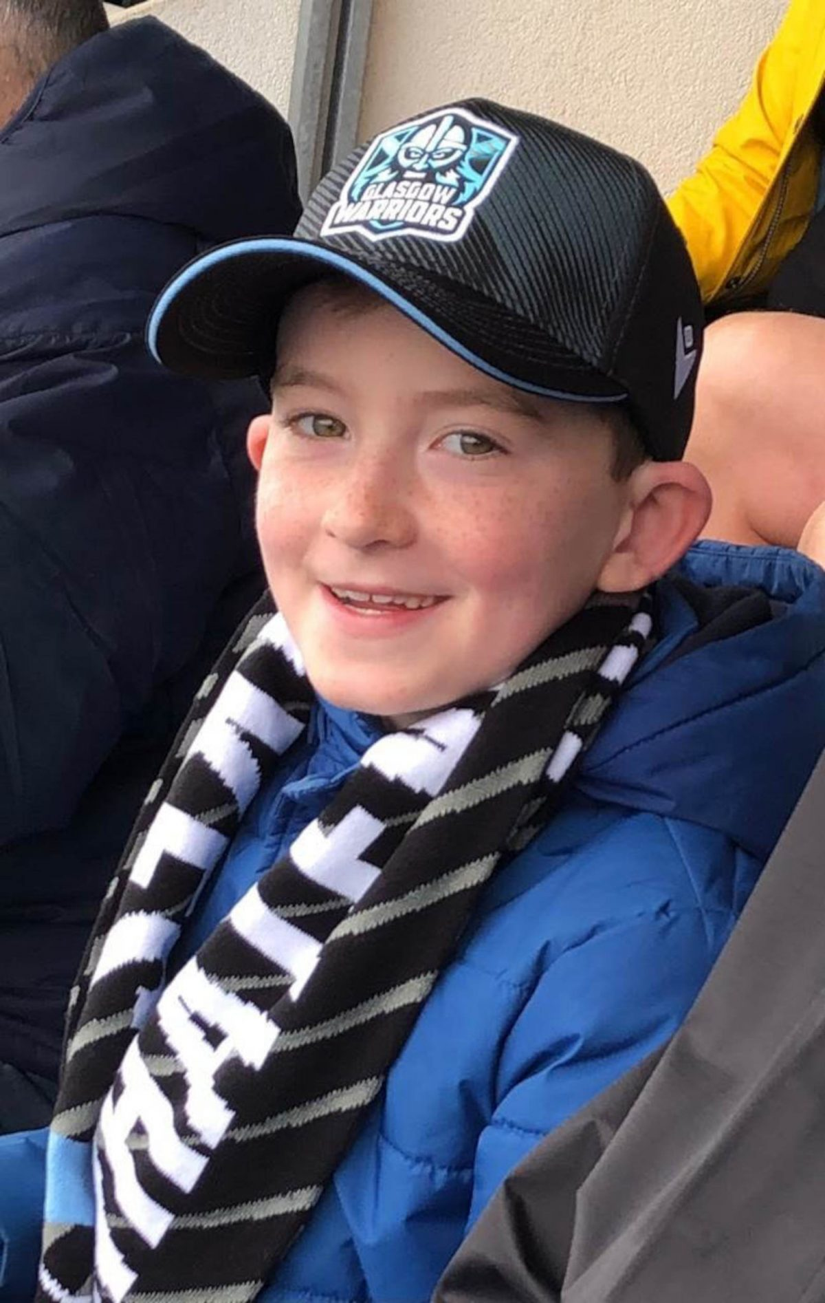 Harry in his seat at Warriors v Cell C Sharks