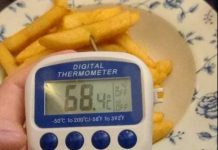 Robert's temperature probe - used to measure the warmth of the Wetherspoons chips