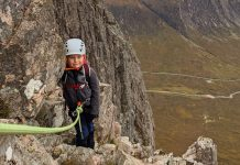 Marcus scales the mountain ridge