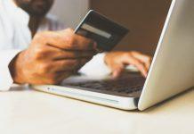 Man online shopping